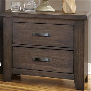 Night Stand with Two Self-Closing Drawers