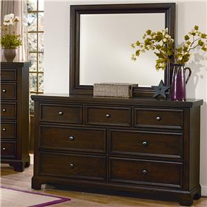 7 Drawer Dresser & Landscape Mirror Set