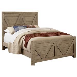 King V Panel Bed