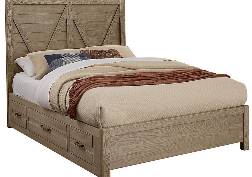 Highland KING V PANEL BED Drawer 1 SIDE by Vaughan Bassett at Johnny Janosik