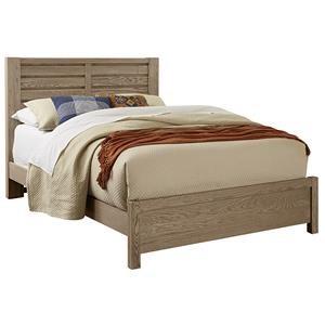 Queen HORIZONTAL PLANK BED