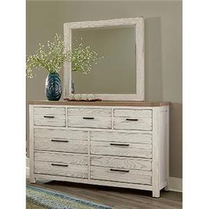 7 Drawer Dresser and Landscape Mirror