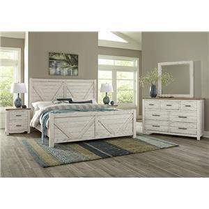 Queen V Panel, Dresser, Mirror, Nightstand