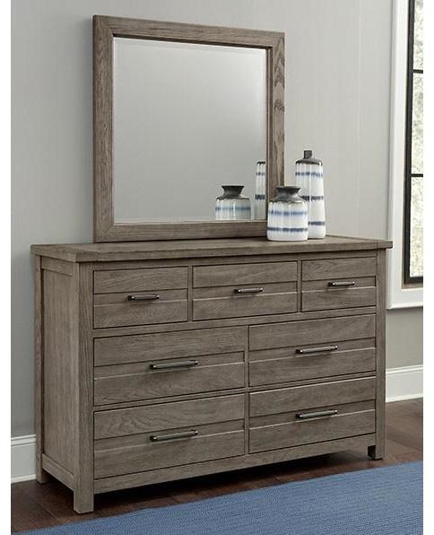 Highland 7 Drawer Dresser and Landscape Mirror by Vaughan Bassett at Johnny Janosik