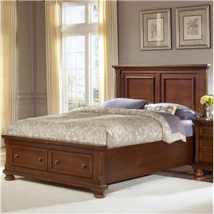 Vaughan Bassett Reflections Queen Storage Bed with Mansion Headboard