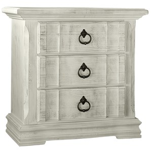 Cottage Style Night Stand - 3 Drawers