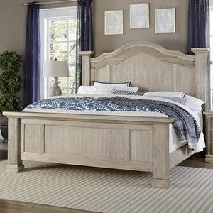 King Poster Bed with Arched Headboard