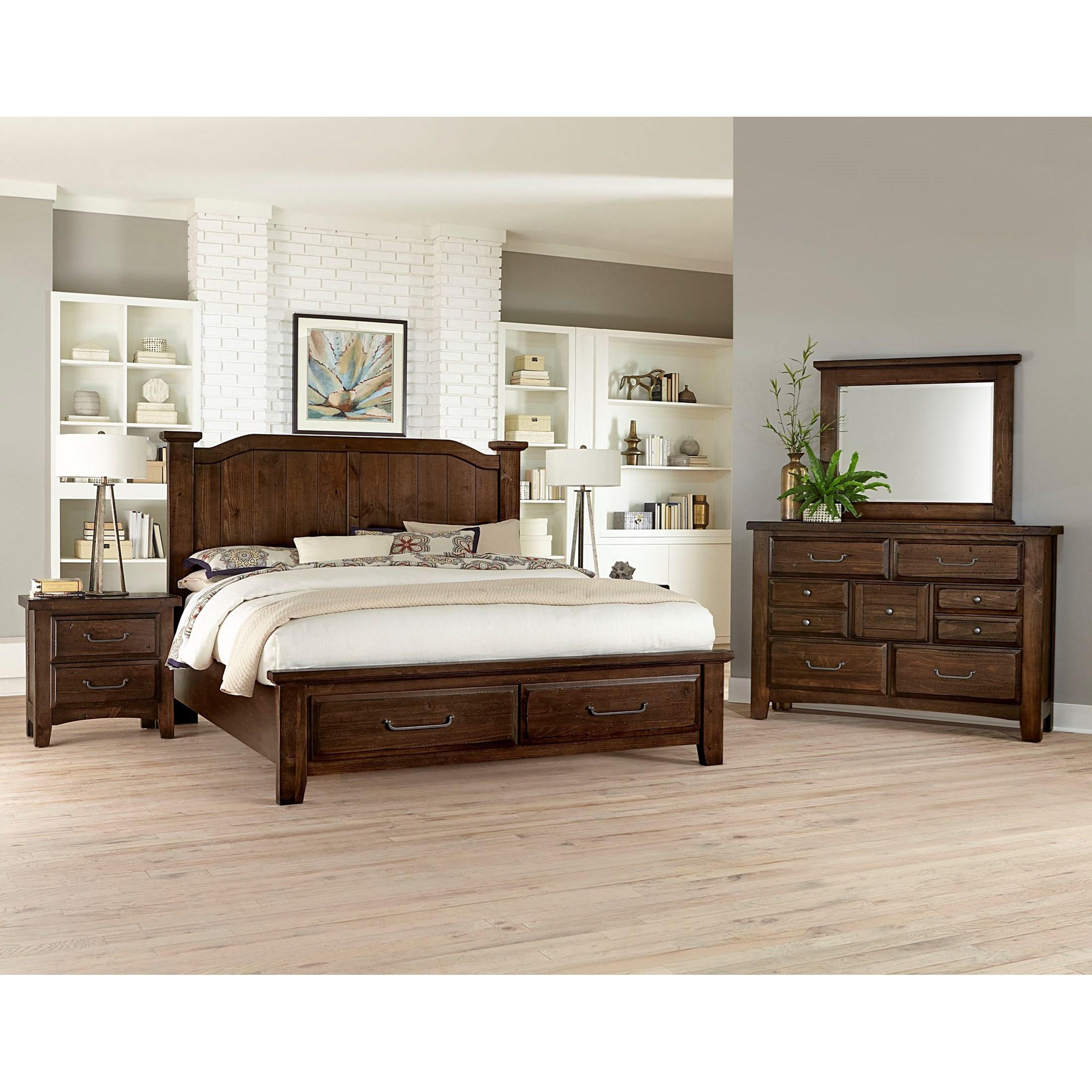 Sawmill Queen Bedroom Group by Vaughan Bassett at Northeast Factory Direct