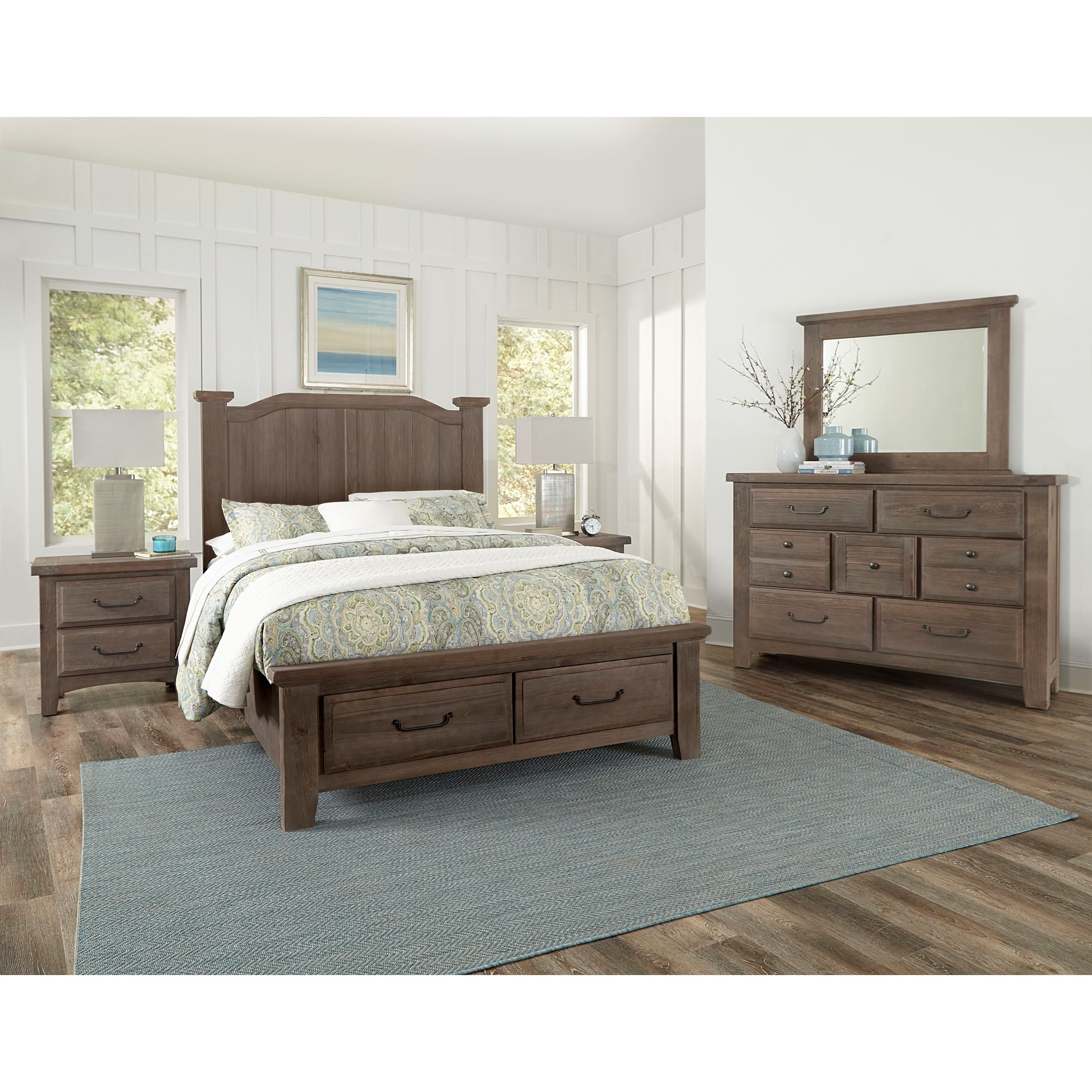 Sawmill King Bedroom Group by Vaughan Bassett at Northeast Factory Direct