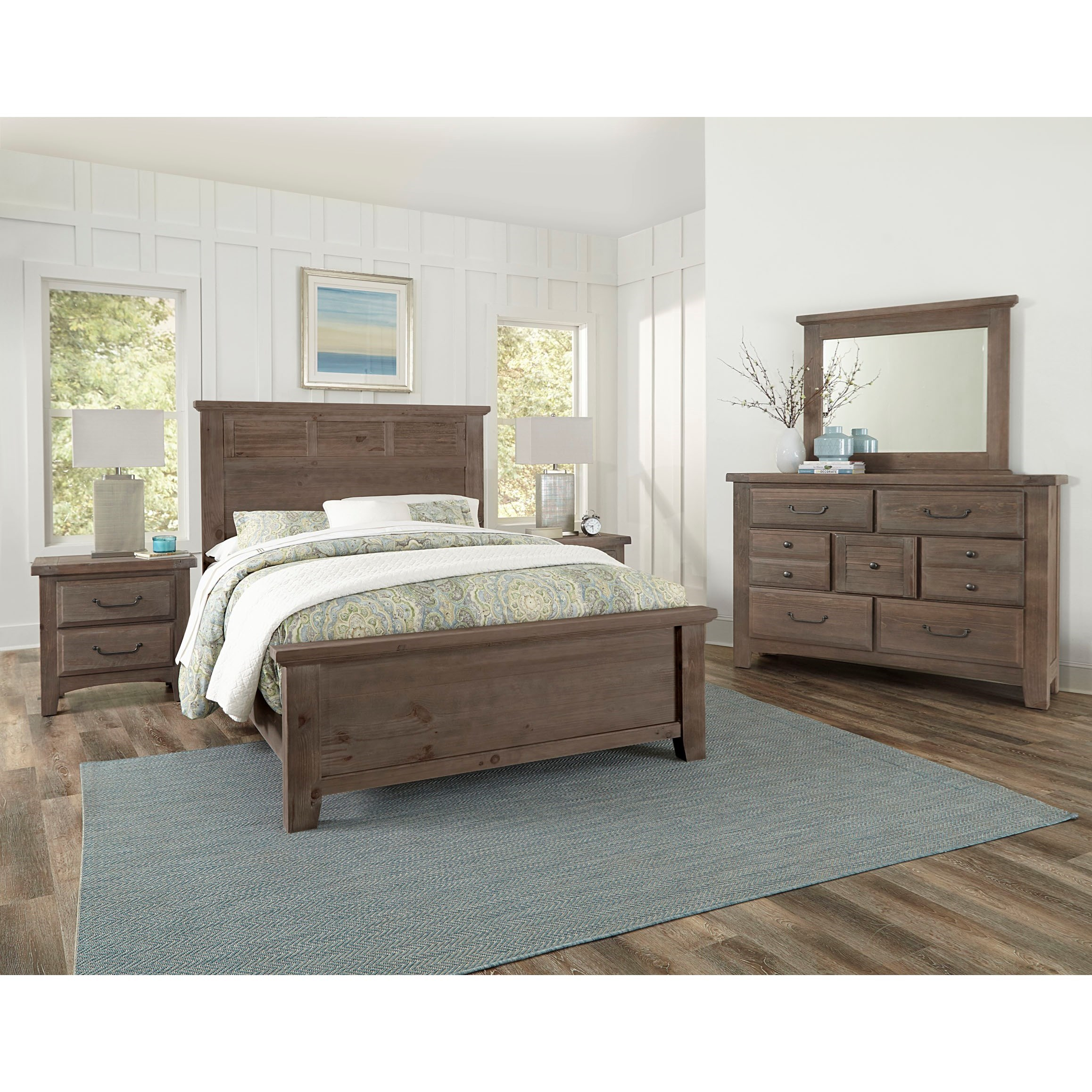 Sawmill King Bedroom Group by Vaughan Bassett at Johnny Janosik