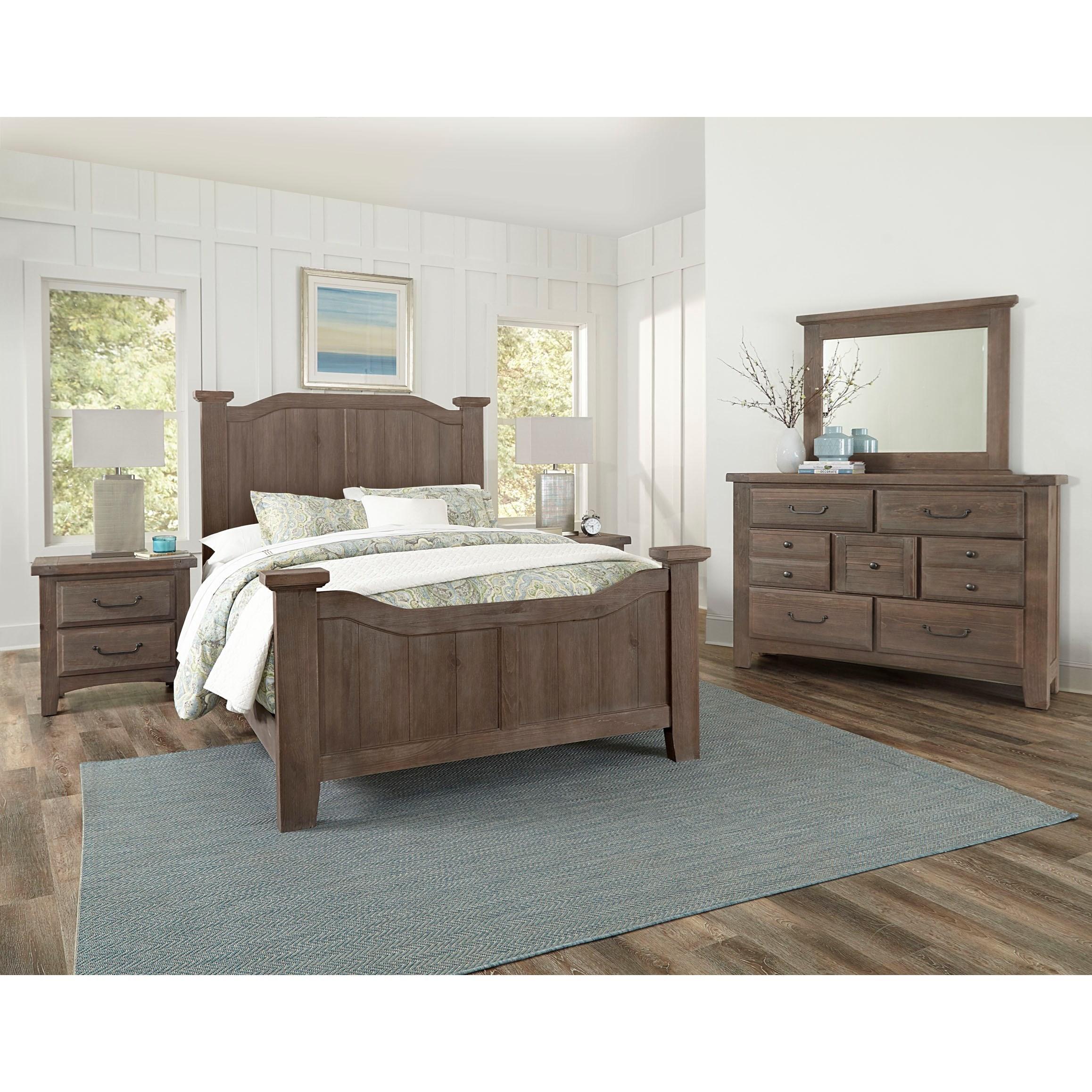 Sawmill King Bedroom Group by Vaughan Bassett at Mueller Furniture