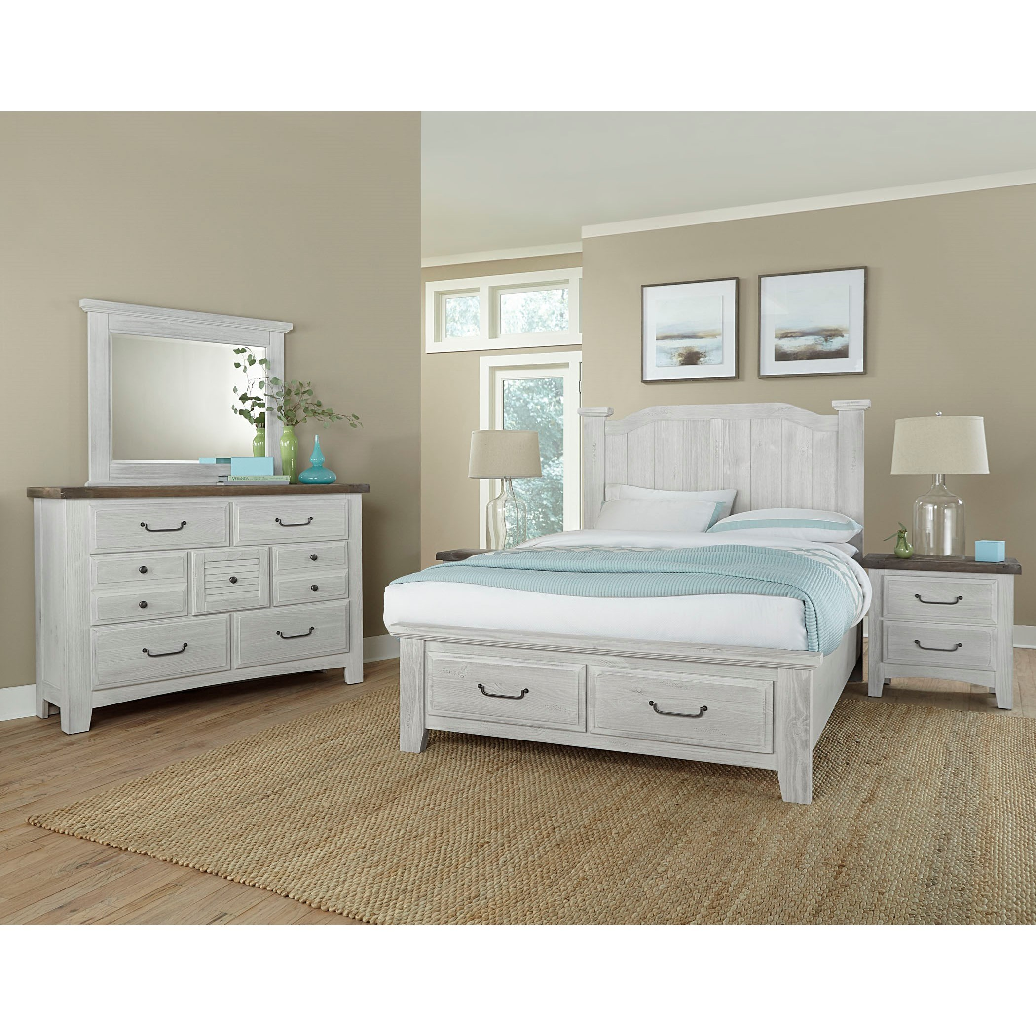 Sawmill King Bedroom Group by Vaughan Bassett at Gill Brothers Furniture