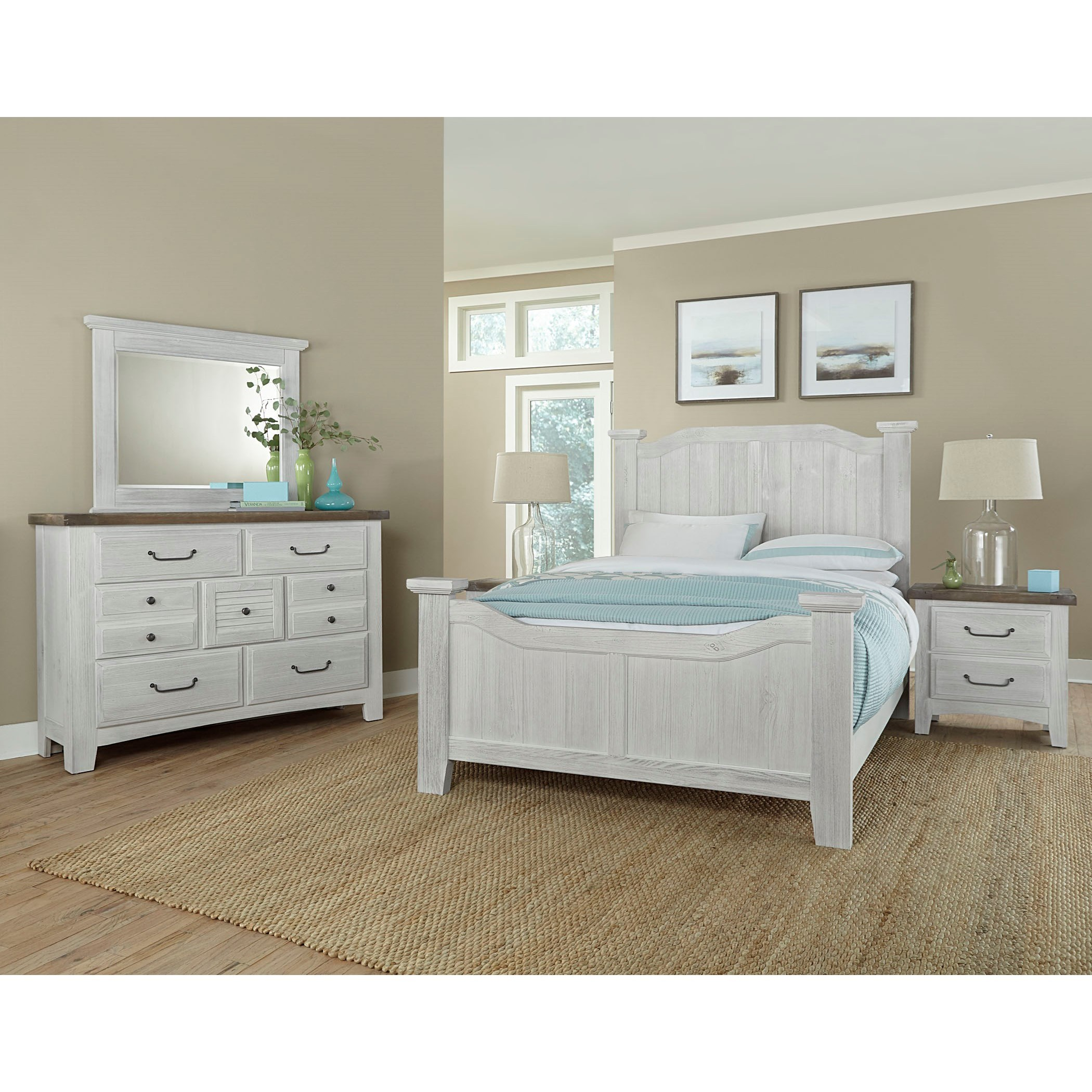 Sawmill Queen Bedroom Group by Vaughan Bassett at Godby Home Furnishings