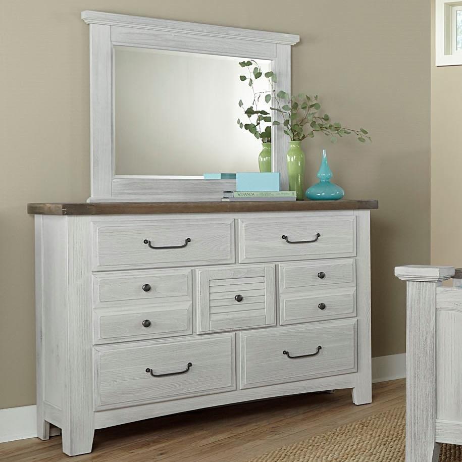 Sawmill Dresser & Mirror Set by Vaughan Bassett at Furniture Barn