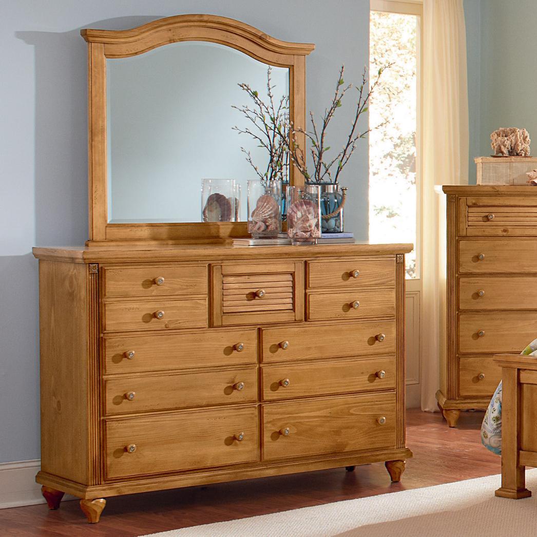Shutters Dresser & Mirror by Vaughan Bassett at Johnny Janosik