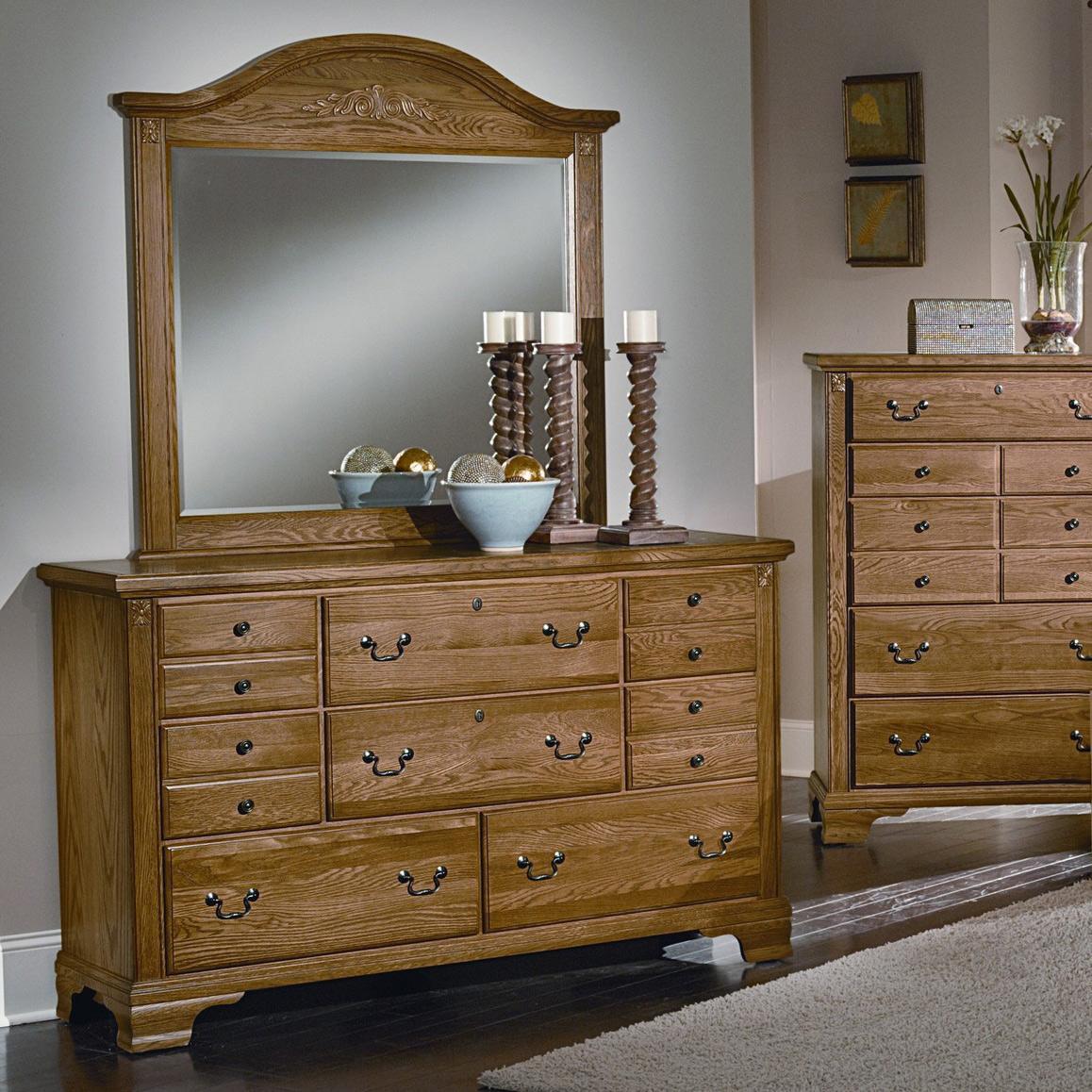 Spencer Dresser & Arch Mirror by Vaughan Bassett at Johnny Janosik