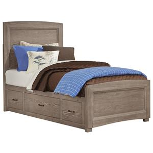 Twin Panel Bed with Underbed Storage
