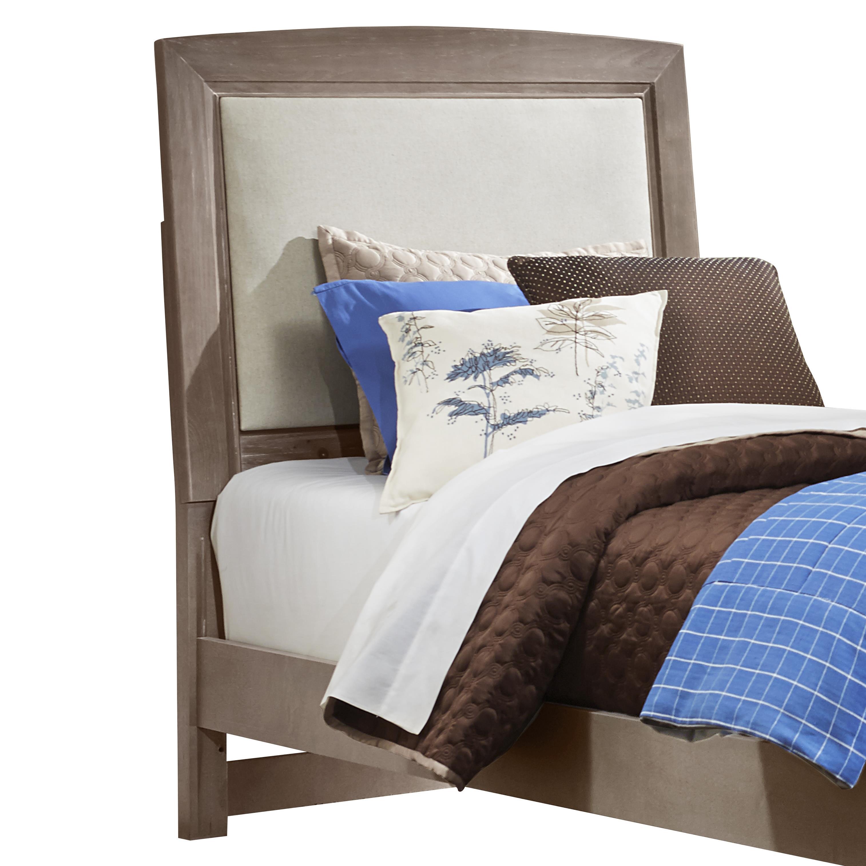 Transitions Twin Upholstered Headboard, Base Cloth Linen by Vaughan Bassett at Lapeer Furniture & Mattress Center