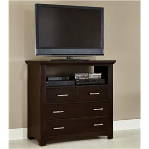 Casual Contemporary Media Chest - 4 drawers