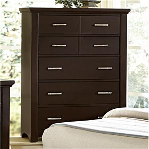 Casual Contemporary Chest - 5 drawers