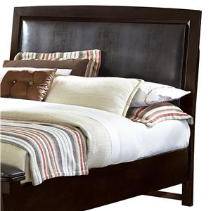 King/California King Upholstered Headboard (Chocolate Bonded Leather)