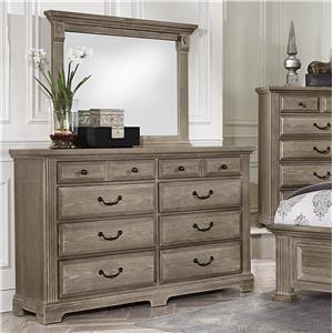 Triple Dresser & Landscape Mirror