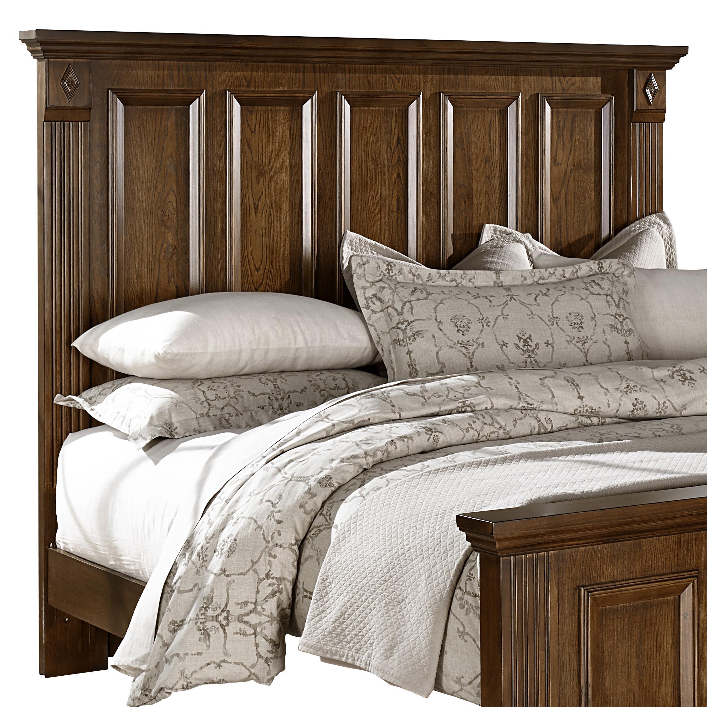 Woodlands Queen Mansion Headboard by Vaughan Bassett at Lapeer Furniture & Mattress Center