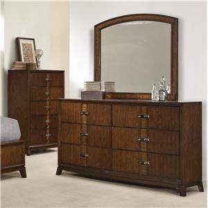 Vaughan Furniture Martinique Dresser and Mirror Set