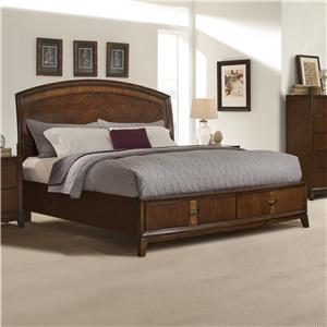 Vaughan Furniture Martinique Queen Platform Sleigh Bed with Storage