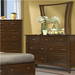 Vaughan Furniture Stanford Heights Dresser and Mirror Combo