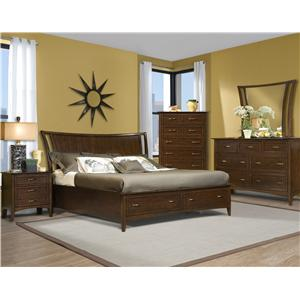 Vaughan Furniture Stanford Heights Queen Storage Bedroom Group