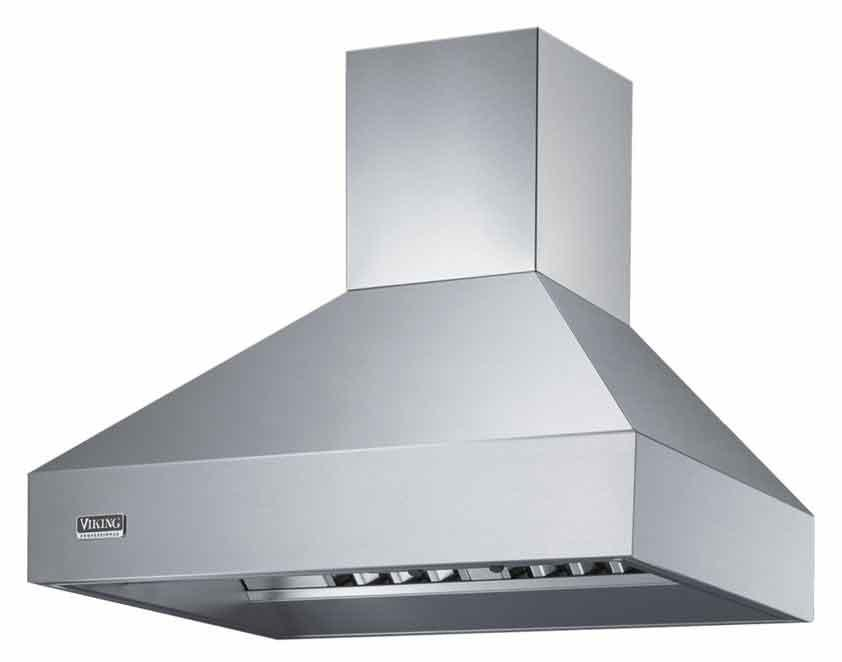 "Professional Series 42"" Wall-Mount Chimney Hood by Viking at Fisher Home Furnishings"