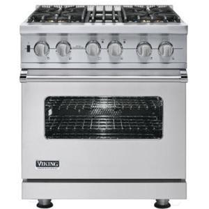 "Viking Professional Series 30"" Freestanding Dual Fuel Range"