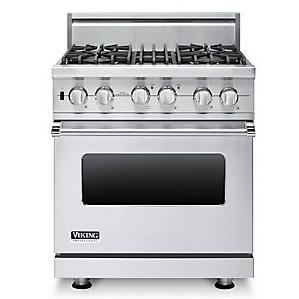 "Viking Professional Series 30"" Freestanding Dual Fuel Range"