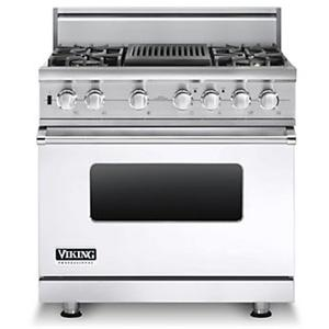 "Viking Professional Series 36"" Freestanding Dual Fuel Range"