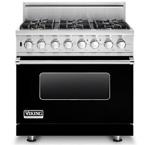 "Viking Professional Series 36"" Freestanding Dual Fuel Range"
