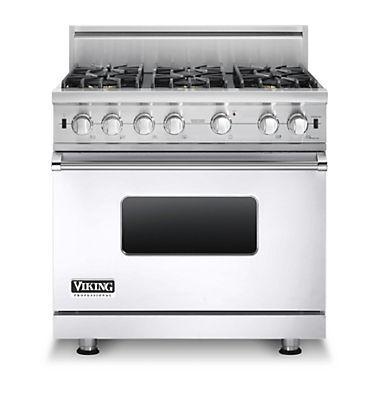 "Professional Series 36"" Gas Sealed Burner Range by Viking at Fisher Home Furnishings"
