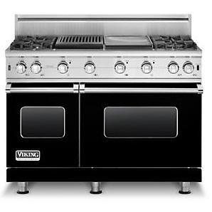 "Professional Series 48"" Freestanding Propane Gas Range  by Viking at Fisher Home Furnishings"