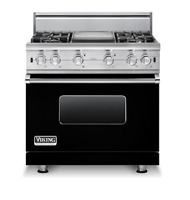 """Professional Series 36"""" Freestanding Natural Gas Range by Viking at Fisher Home Furnishings"""