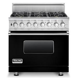 """Viking Professional Series 36"""" Freestanding Natural Gas Range"""