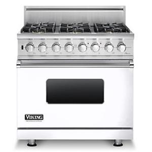 "Viking Professional Series 36"" Freestanding Natural Gas Range"