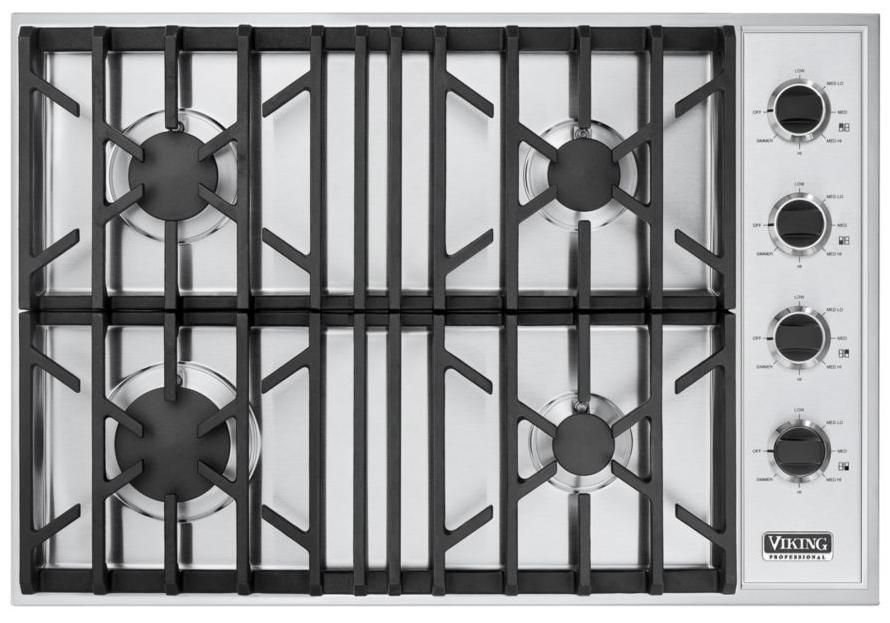 """Professional Series 30"""" Built-In Propane Gas Cooktop  by Viking at Fisher Home Furnishings"""