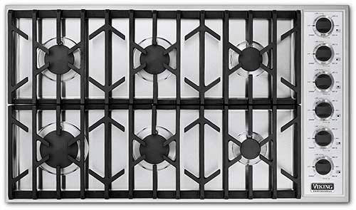 """Professional Series 36"""" Built-In Propane Gas Cooktop by Viking at Fisher Home Furnishings"""