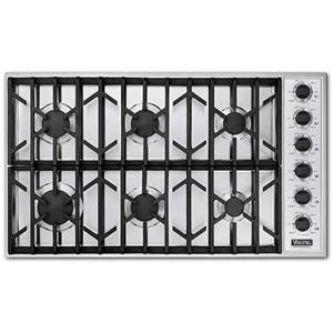 "Viking Professional Series 36"" Built-In Propane Gas Cooktop"