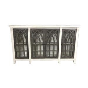 Cathedral Door Console in White/Ash