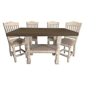 Kitchen Island Table and 4 Barstools