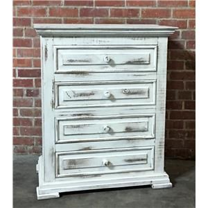 Nero White Nightstand
