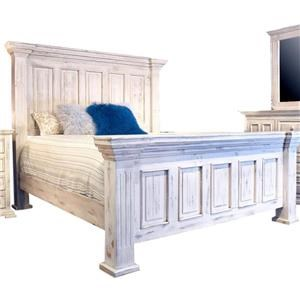 King Nero White Bed