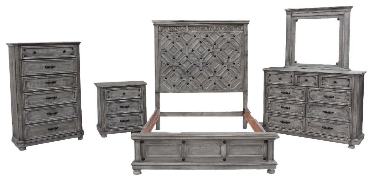 Santorini Queen Bed by Vintage at Wilcox Furniture