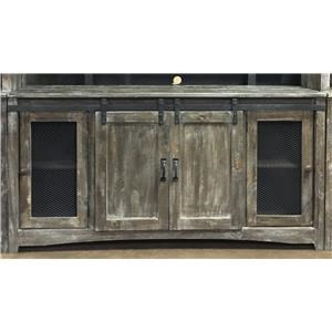 Rustic Mesh Door TV Stand